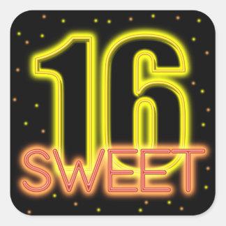 Sticker Carré Lueur dans le bonbon foncé 16