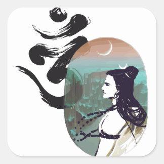 Sticker Carré Lune Shiva en hausse
