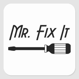 Sticker Carré M. Fix It