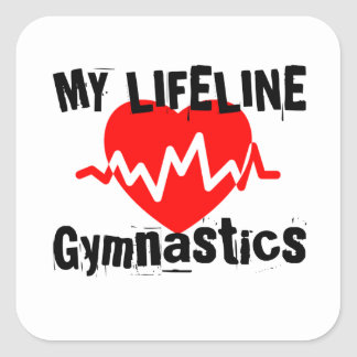 Sticker Carré Ma ligne de vie gymnastique folâtre des