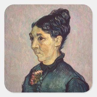 Sticker Carré Madame Jeanne Lafuye Trabuc de Vincent van Gogh |