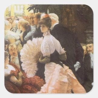 Sticker Carré Madame politique par James Tissot, cru victorien