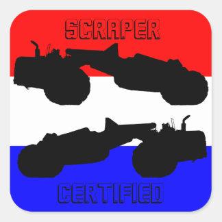 Sticker Carré Main fonctionnante de grattoir certifiée par
