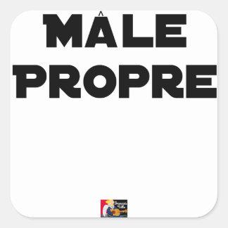 Sticker Carré MÂLE-PROPRE - Jeux de mots - Francois Ville