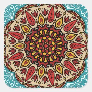 Sticker Carré Mandala de chute