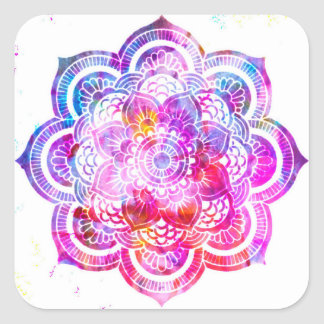 Sticker Carré Mandala de fleur