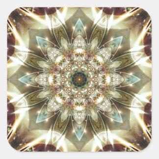 Sticker Carré Mandalas du coeur du changement 10, articles de