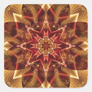 Sticker Carré Mandalas du coeur du changement 15, articles de