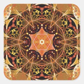 Sticker Carré Mandalas du coeur du changement 22, articles de