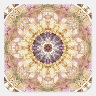 Sticker Carré Mandalas du coeur du changement 2, articles de
