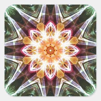 Sticker Carré Mandalas du coeur du changement 5, articles de