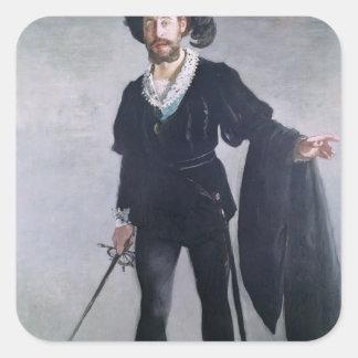 Sticker Carré Manet   Jean Baptiste Faure comme Hamlet, 1877