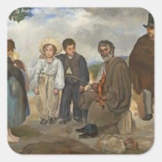 Sticker Carré Manet | le vieux musicien, 1862