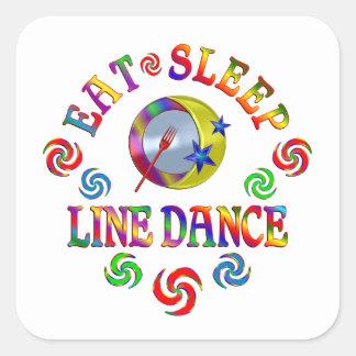 Sticker Carré Mangez la ligne danse de sommeil