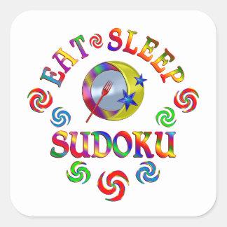 Sticker Carré Mangez le sommeil Sudoku