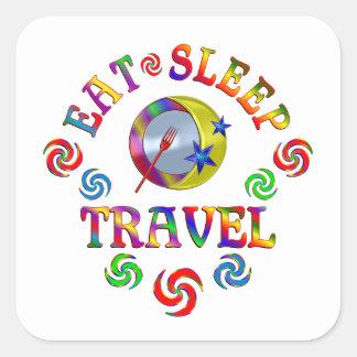 Sticker Carré Mangez le voyage de sommeil