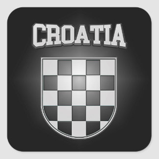 Sticker Carré Manteau de la Croatie des bras