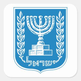 Sticker Carré Manteau de l'Israël d'autocollant de bras