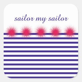 Sticker Carré marin mon marin
