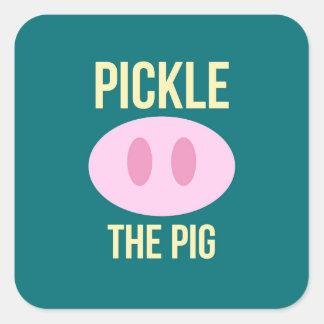 Sticker Carré Marinez le paquet d'autocollant de logo de porc