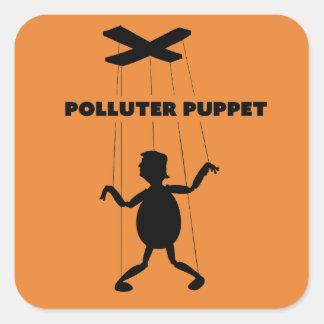 Sticker Carré Marionnette de pollueur