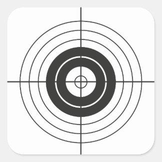 Sticker Carré marque ronde de conception de cercle de cible
