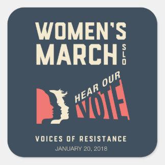 Sticker Carré Mars SLO - janvier 2018 événement des femmes