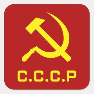 Sticker Carré Marteau et faucille de CCCP