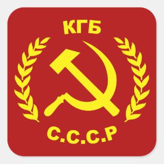 Sticker Carré Marteau et faucille de KGB CCCP