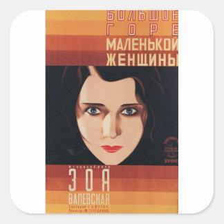 Sticker Carré Mauvaise jeune femme russe