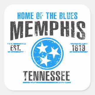 Sticker Carré Memphis