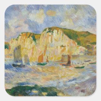Sticker Carré Mer et falaises