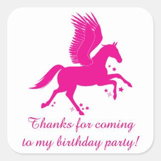 Sticker Carré Merci pour la prochaine fête d'anniversaire avec