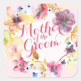 Sticker Carré Mère du joint d'autocollant de mariage de ressort