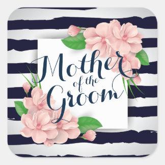 Sticker Carré Mère du joint d'autocollant de mariage d'été de