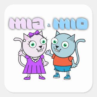 Sticker Carré Mia et millions d'articles comestibles