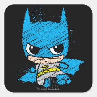 Sticker Carré Mini croquis de Batman