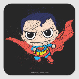 Sticker Carré Mini croquis de Superman
