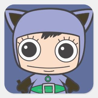 Sticker Carré Mini femme de chat