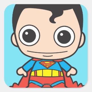 Sticker Carré Mini Superman