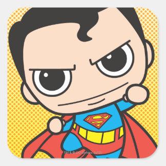 Sticker Carré Mini voler de Superman