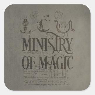 Sticker Carré MINISTÈRE du charme | de Harry Potter de MAGIE