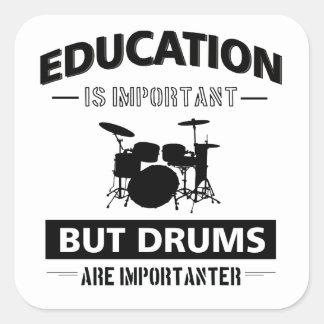 Sticker Carré Mise en tambour drôle