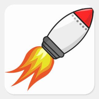 Sticker Carré Missile de Rocket