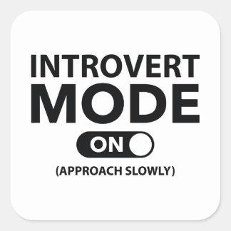 Sticker Carré Mode introverti dessus