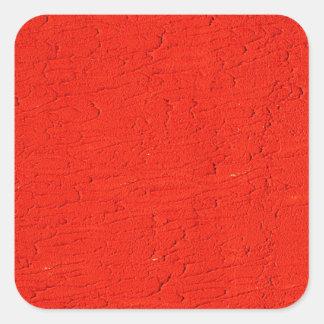 Sticker Carré mode rouge A de style d'ordure d'antiquité