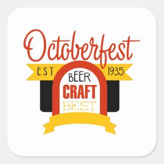 Sticker Carré Modèle de conception de logo d'Oktoberfest
