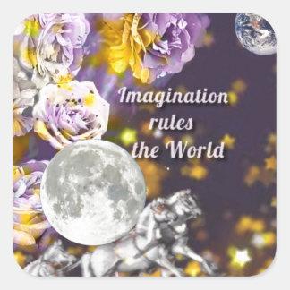 Sticker Carré Mon imagination est sans fin