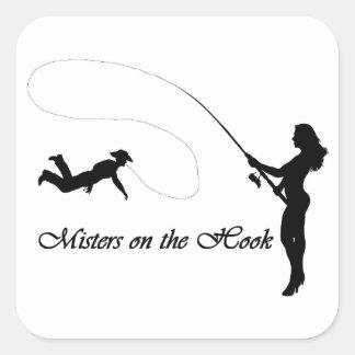 Sticker Carré Monsieurs sur l'autocollant de crochet