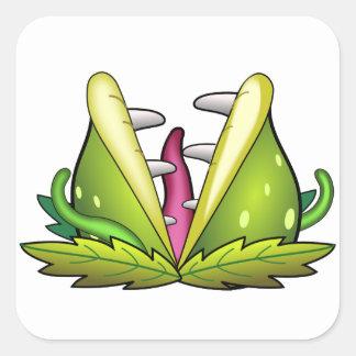 Sticker Carré monstre d'attrape-mouche de venus